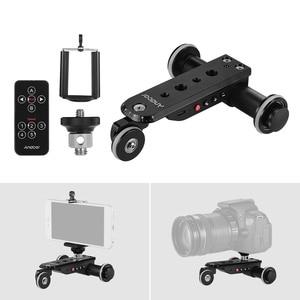 Image 1 - Andoer PPL 06S פרו אלומיניום סגסוגת ממונע וידאו מצלמה דולי מסלול מחוון + טלפון מחזיק לgopro גיבור 7 Canon Sony DSLR מצלמה