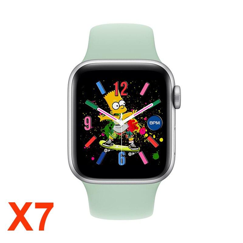 IWO X7 SmartWatch серии 6 вызовов через Bluetooth Смарт-часы фитнес-трекер для измерения сердечного ритма, смарт-часы для IOS и Android PK W26 T500 X6