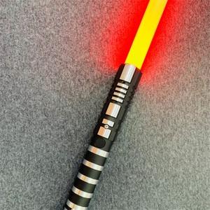 Image 3 - 16 لون RGB ضوء صابر USB شحن جيدي سيث لوك القوة ضوء صابر الصوت مقبض معدني السيف مضيئة لعب الأطفال هدية