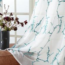 Занавески с вышивкой в виде ветвей yokistg для гостиной спальни