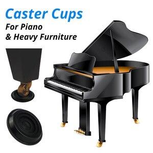 Image 1 - סט של 4 פסנתר גלגלית כוסות קל דאונים כבד ריהוט רגל רפידות זקוף גרנד פסנתר עגול גלגל קיק כוס מגן שקופיות