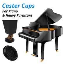 Set of 4 Piano Caster Cups Easy Gliders Heavy Furniture Leg Pads For Upright Grand Piano Round Wheel Castor Cup Protector Slide