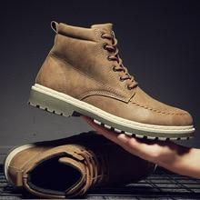 LZJ 2019 Autumn Winter New Men Sneakers Ankle boots High Top Men Shoes