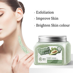 100% Natural de manteca de karité de aguacate crema corporal para blanquear hidratante y exfoliante cuidado de la piel hombre y mujer 320g