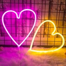LED Night Light  Heart Shape Grass Rattan Woven Battery Power Girls Bedroom Decorative Table Lamp For Girl Gift