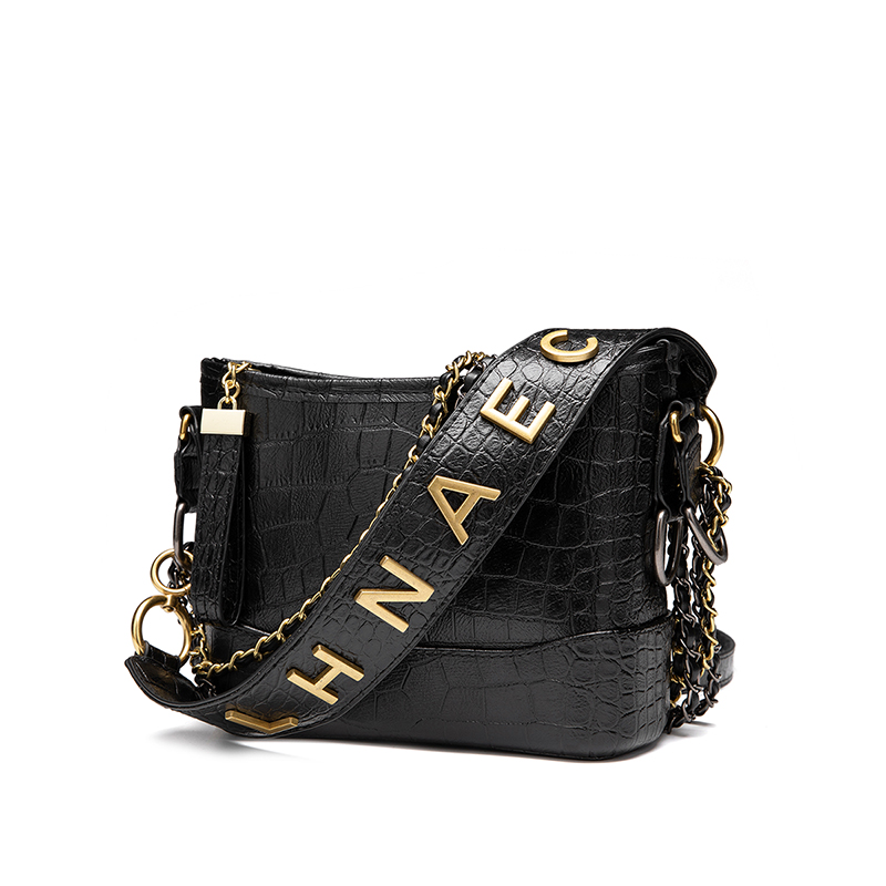 Fashion Women Bag Alligator PU Leather Shoulder Bag Luxury Chain Messenger Crossbody Bag High Quality Lady Handbag Bolso Mujer