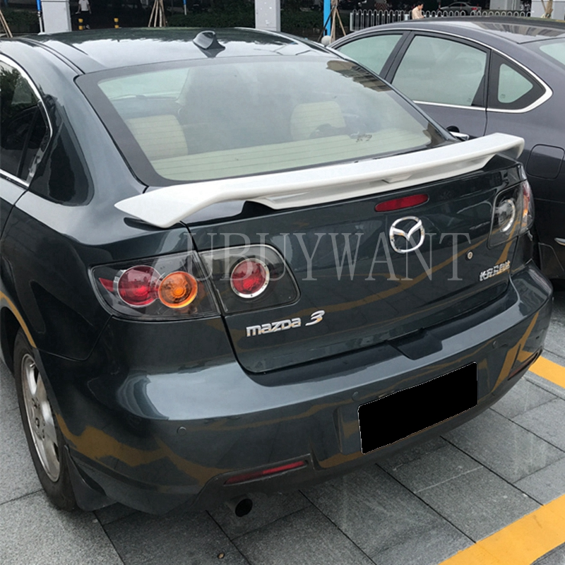 For Mazda 3 <font><b>Mazda3</b></font> Spoiler <font><b>2007</b></font> 2008 2009 2010 2011 ABS Exterior Rear Spoiler Tail Trunk Boot Wing Decoration Car Styling image