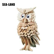 A Toys For Children 3d Puzzle Diy Wooden Owl Kids Also Suitable Adult Game Best Gift Of High Quality Wood