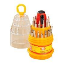 31-in-1 Magnetic Screwdriver Set Multifunction Screwdriver Bits for Cell Phone Watch Laptop Repair Tool Portable Hand Tool 8 in 1 rubber handle multifunction foldable screwdriver set hand tool