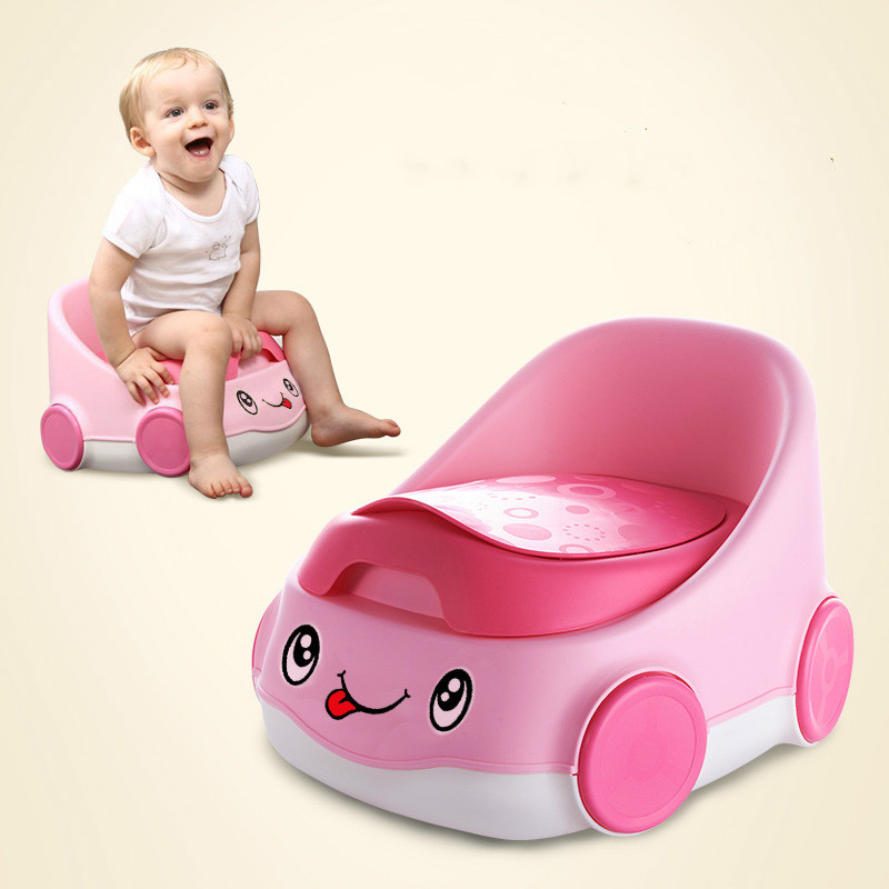 Cartoon Car Baby Toilet Baby Urinal Baby Potty Plastic Portable Children Seat Training Toilet Baby Boy Girl Fold Potty For 0-9Y