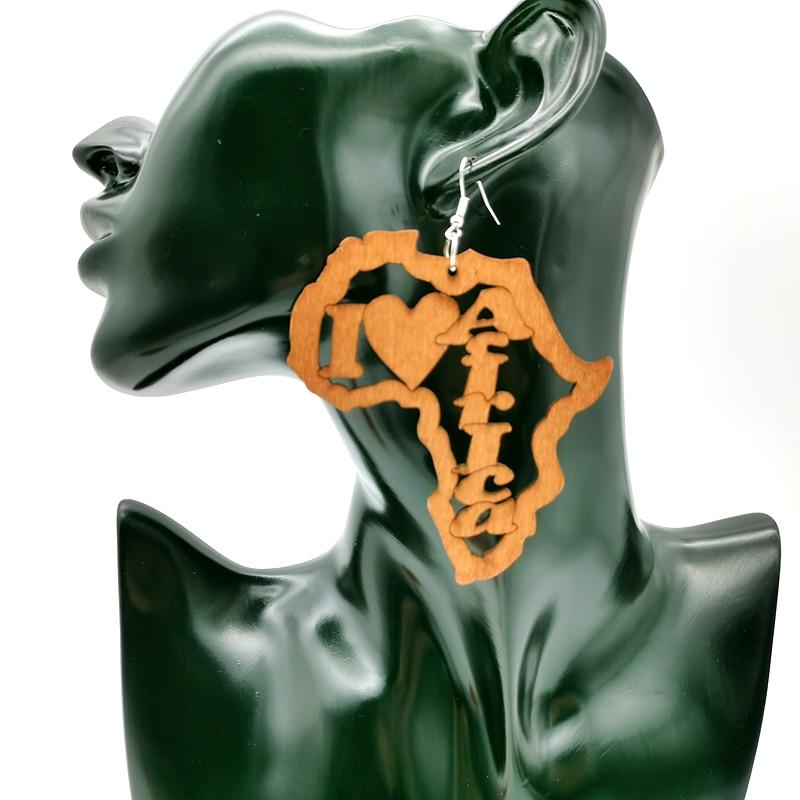 YD&YDBZ New Africa Style Big Earrings Women Drop Earring Elephant Pendant Jewelry Fashion Wood Earrings Can Custom Ear Accessory