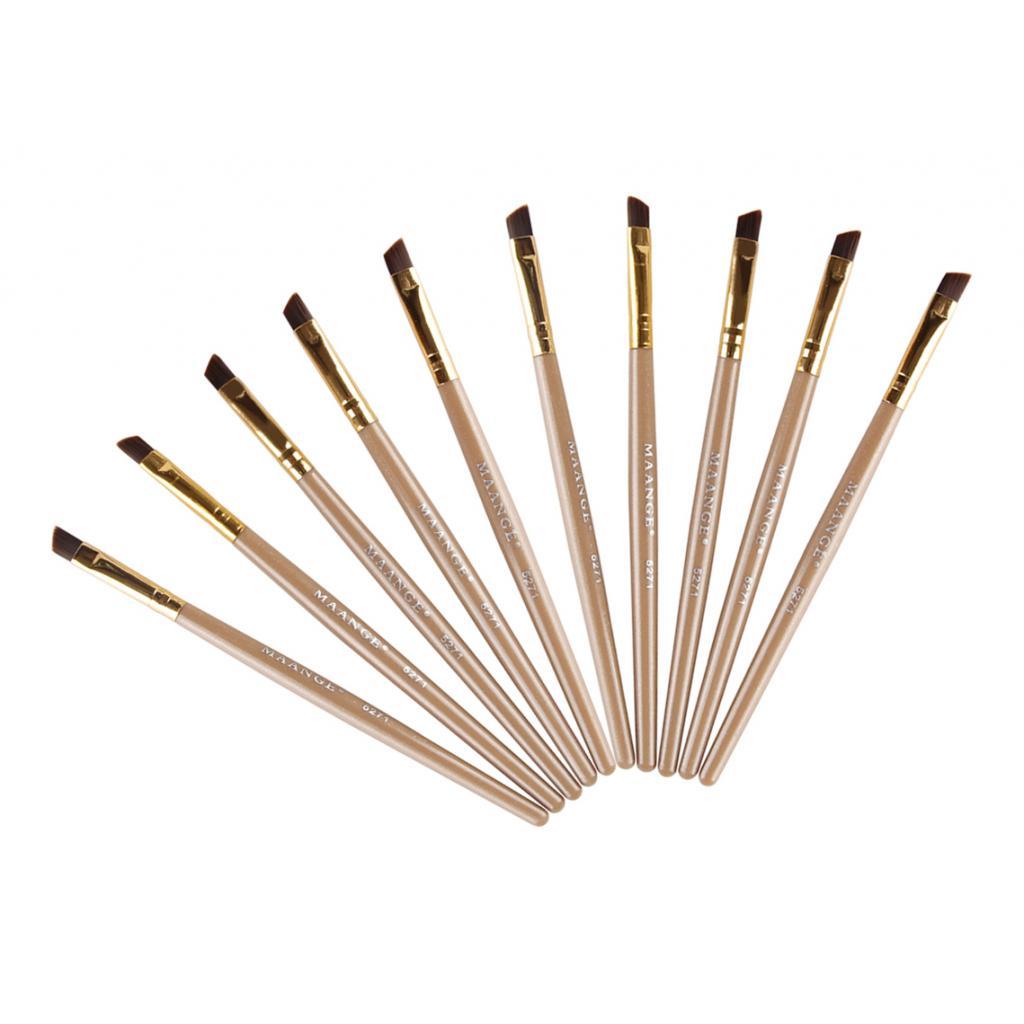 Профессиональная угловая кисть для теней для формовки щетка обрезная Набор для бровей подводка кисть для теней