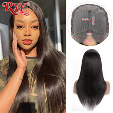 Wig 4x4 Hair-Wigs Human-Hair Transparent Lace Straight Lace Closure T-Part Pre-Plucked