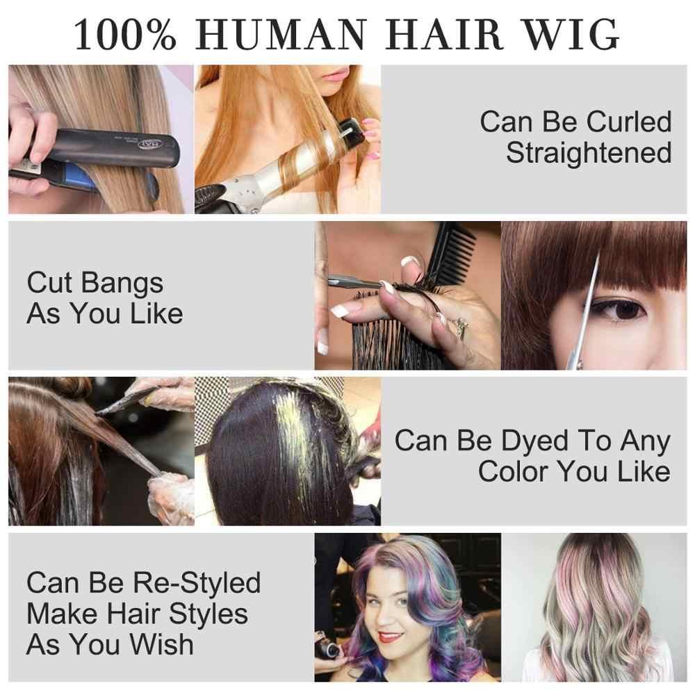 MW krótkie Rainbow Bob peruki Remy ludzki włos pół koronkowa peruka dla kobiet 10 cali 25cm FedEx darmowa wysyłka