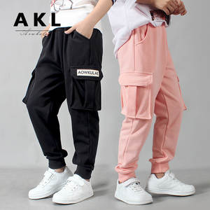 Boys Pants Sports Children Pants For Boys Casual Trousers For Girls Winter Kids Pants Teenage Students Clothes For Boys 2019