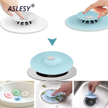 Sink Strainer Shower Drain Stopper Floor Rubber Circle Silicone Plug for Bathtub Bathroom Plugs Kitchen Basin Filter Cover