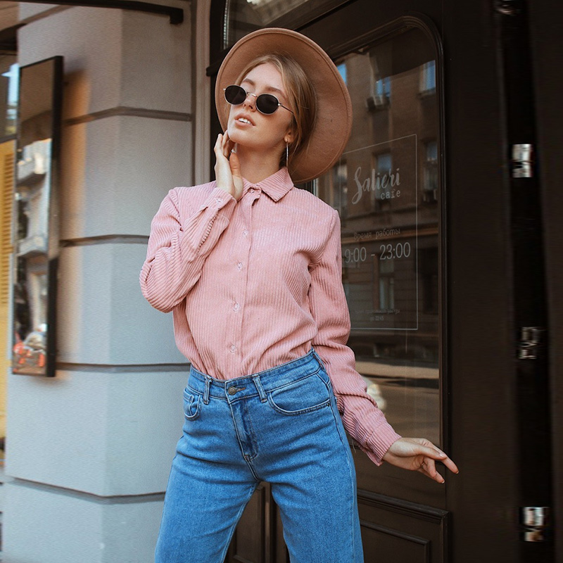 Women Office Lady Corduroy Velvet Blouse Long Sleeve Turn Down Collar Solid Elegant Shirt 2019 Winter New Fashion Women Blouse