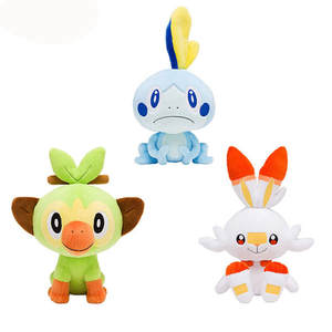 Plush Dolls Sword-Shield Christmas-Gift Stuffed Sobble Scorbunny Grookey Friend for Kids