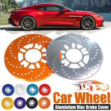 2 uds 4 Uds. De aleación de aluminio Universal freno de disco de coche Rotor cubiertas de carreras tambor azul claro/azul oscuro/oro/negro/rojo/plata