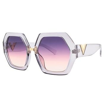 2021 Luxury Square Sunglasses Ladies Fashion Glasses Classic Brand Designer Retro Sun Glasses Women Sexy Eyewear Unisex Shades - White
