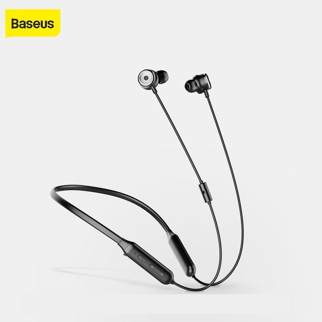 Baseus S15 Active Noise Control Bluetooth Earphone Wireless Earphones Bluetooth Sports Headphones With Magnetic Design Headset