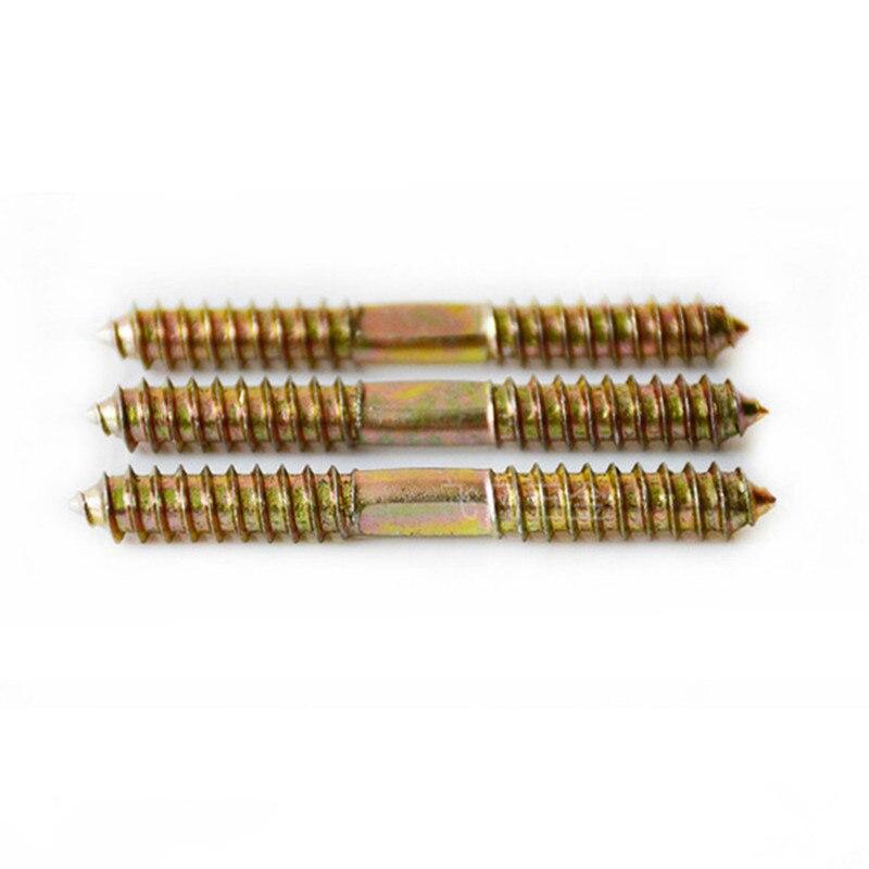 M4 M5 Hanger Bolt Wood To Metal Dowels 30pcs Stud Thread Screws Tapping Self