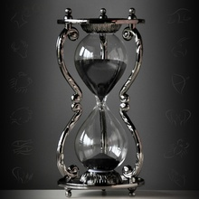 Twelve Constellation Metal Hourglass 30 Minute Timer Creative Ornaments Aquarius Pisces Home Decoration