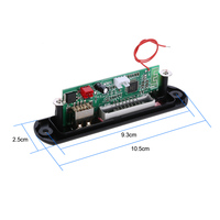 Wireless Bluetooth MP3 WMA Decoder Board Car Audio FM Radio Module with Aux in USB Port TF Card Slot Remote Control