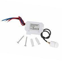 Infrarrojo IR movimiento del cuerpo Sensor de luz automático interruptor de Control para lámpara, 110V 240V nuevo