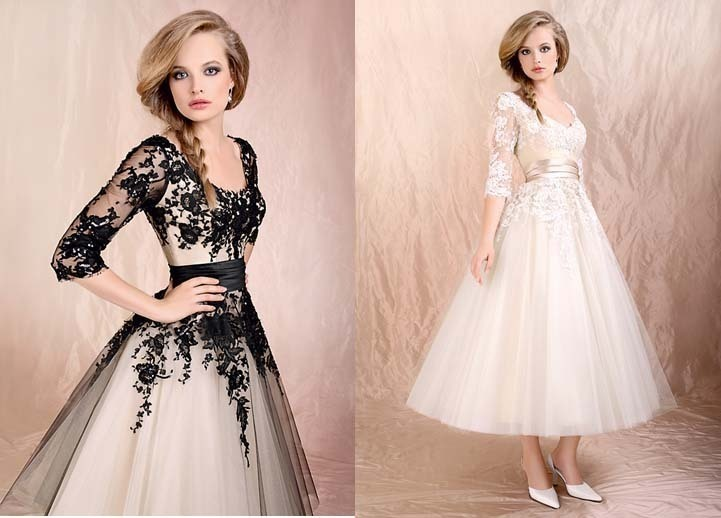 Free Shipping Vestido De Noiva 2018 Lace Sleeves Bridal Gown Black Low Back Short Lace Prom Gown Mother Of The Bride Dresses