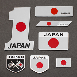 3D алюминиевого сплава Япония флагом эмблема знак, наклейка на автомобиль автомобильные наклейки мотоциклетные автомобильные аксессуары д...