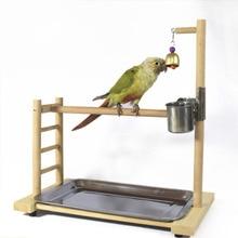 39*36*23 см Птица perches попугай игровая площадка лоток подачи Колокольчик для попугая Настольный попугай Playstand для Conure Cockatiel Parakeet Finch