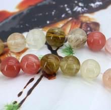 Perles de tourmaline multicolores pour femmes, 12mm, en vrac, 15