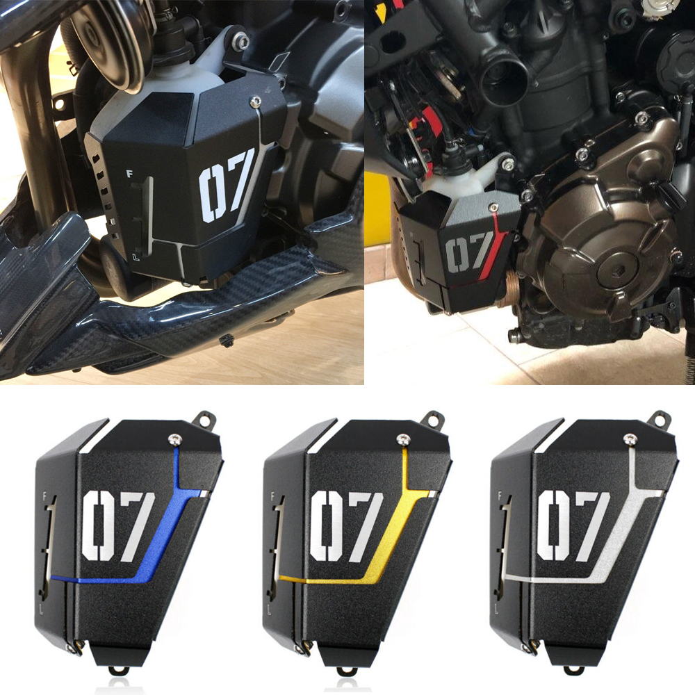 For Yamaha FZ-07 MT-07 2013-16 Radiator Coolant Water Resevoir Tank Guard Cover