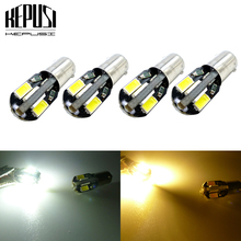 4Pcs T11 BA9S H6W LED Car Light Bulbs 5630 SMD T4W LED Auto Car interior light Dome Reading Dashboard Lamp White yellow amber 100pcs ba9s t11 5050 5 smd led white light bulb car reading width lights car 12v lamp t4w h6w high quality interior lamp bulb