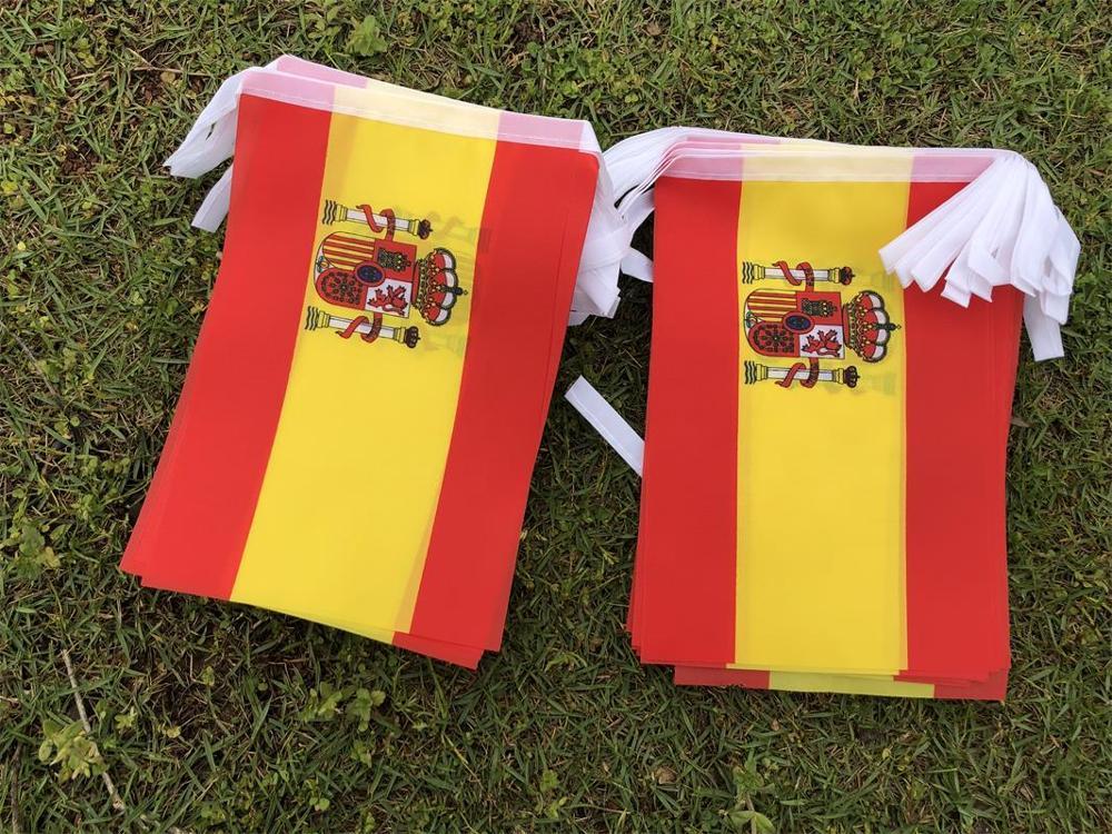 Испанский флаг, развевающийся флаг, испанский флаг, бразильский флаг, декоративный флаг, 9m30 стороны, 14*21 см