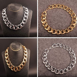 New exaggerated CCB thick chain in Europe and the popular hip hop big jewelry DJ stage long clavicle necklace WWX