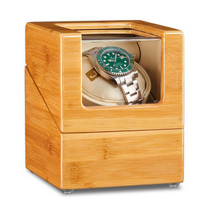 Watch-Winder Wood JQUEEN with Quiet Motor 5-working-modes/Bamboo/Wood/Interior White