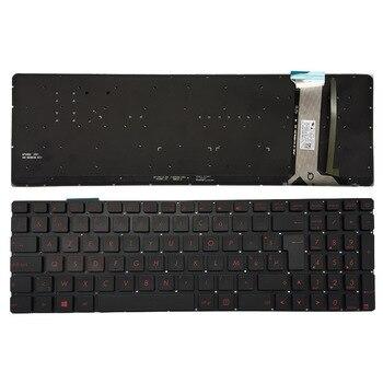 Belgian/Thai backlit laptop keyboard for ASUS GL752 GL752V GL752VL GL752VW GL752VWM ZX70 ZX70VW G58 G58JM G58JW G58VW black