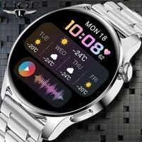 2021 en este momento nuevo reloj inteligente Bluetooth llamadas Dial reloj inteligente de las mujeres de los hombres Monitor de frecuencia cardíaca Fitness pulsera para Android IOS