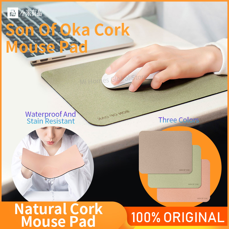 Mouse Pad Computer Gaming Mouse Pad Mat Refreshing Natural Oak Skin-Friendly Anti-Slip Waterproof Laptop Mini Mouses Pads