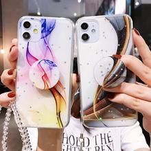 Dazzling Glitter Strap Holder Soft Phone Case For o