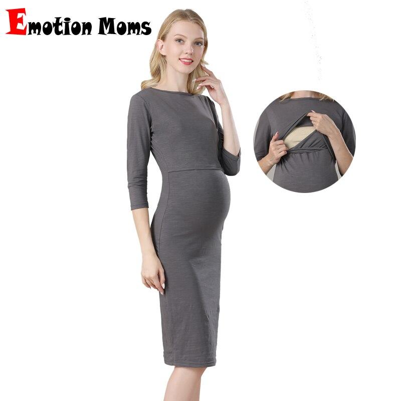 Emotion Moms Maternity Dresses Pregnancy Clothes Party For Pregnant Women Nursing Dress Breastfeeding