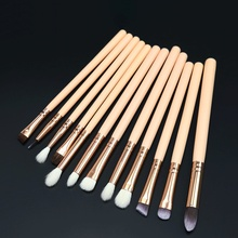 12 Pcs Wool Makeup Brushes Set Wood Beauty Tools Make Up Brush Sets Cosmetic Eyeliner Lip Eyebrow Eye Shadow Powder Brush Etc. недорого