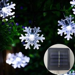 Гирлянды на солнечных батареях 5-52 м Снежинка Фея Рождественские огни Открытый водонепроницаемый светодиодный гирлянда патио вечерние