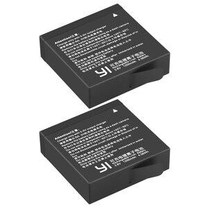 Image 5 - 2 Chiếc Ban Đầu AZ16 1 Pin Cho Xiaomi YI Lite 4K 4K + + Màn Hình LCD USB Sạc Đôi Cho xiaoyi Camera Hành Động Thứ Hai 1200MAh 3.85V