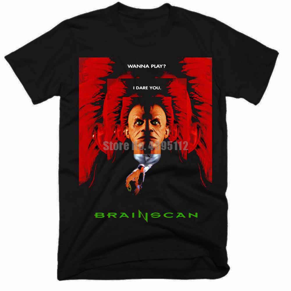 Brainscan 영화 남자 Ahegao T 셔츠 여름 티셔츠 스웨트 티셔츠 러시아에서 바이킹 셔츠 배달 Zrtqai