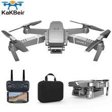 Drone e68 grande angular hd 4k wifi, 1080p fpv drone, vídeo ao vivo, gravação, quadcopter, altura para manter o drone câmera vs e58 drone