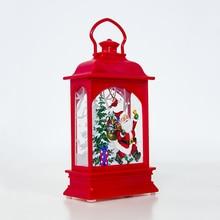 Рождественский подвесной светильник Санта-Клаус, олень, снеговик, светильник для украшения дома и сада JA55