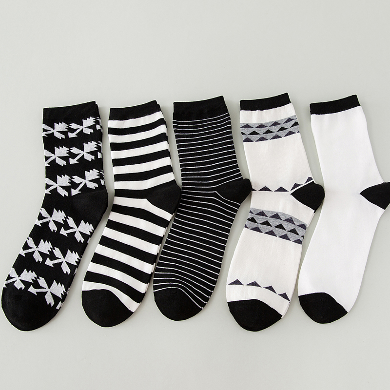 LJIQQ 1 Pair New Fashion Spring Summer Socks Korean Men's Socks Maple Leaf Stripe Socks Hot Sale Cotton Casual Socks